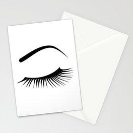 Closed Eyelashes Left Eye Stationery Cards