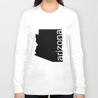 arizona Long Sleeve T-shirts featuring Arizona by Isabel Moreno-Garcia