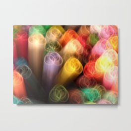 Color Marker Madness Metal Print