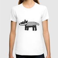 badger T-shirts featuring Badger by Nic Squirrell
