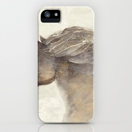 Funny Horse Into The Wind Ivory iPhone Case