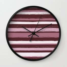 Stripes - Pink Rose Wine Wall Clock