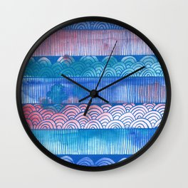 Shapes and colors Wall Clock