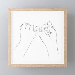 Pinky Promise I Framed Mini Art Print