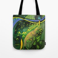 hamlet Tote Bags featuring Hamlet by SPACE AGE ART