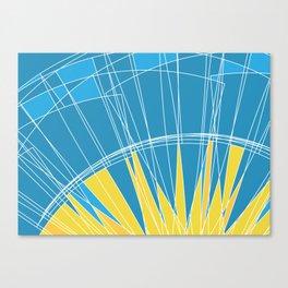Abstract pattern, digital sunrise illustration Canvas Print
