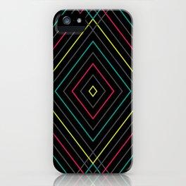 Neon Diamond Pattern iPhone Case