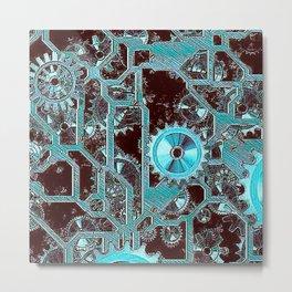 Steampunk,gears Metal Print