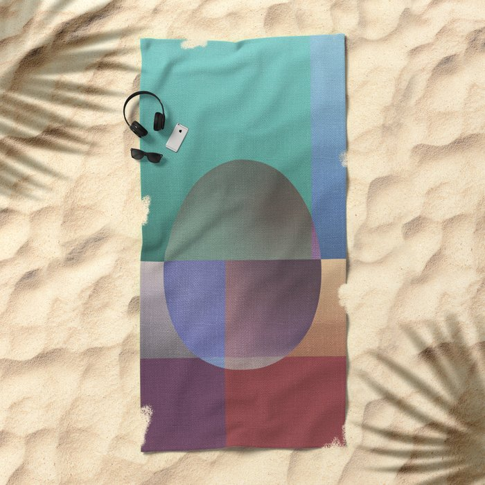 NO WAY OUT (abstract) Beach Towel