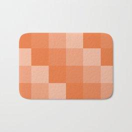 Four Shades of Orange Square Bath Mat