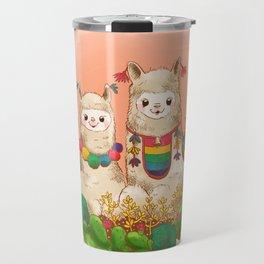 Alpaca Siblings Travel Mug