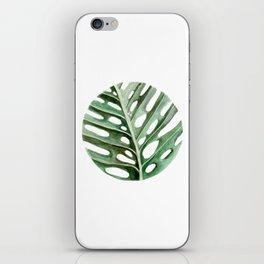 Circular Monstera Leaf Painting iPhone Skin