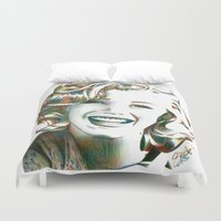 cassandra jean Duvet Covers featuring Norma Jean by ShayMacMorran