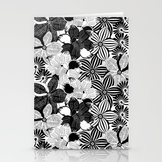 Flowers black & white serie 2 Stationery Cards
