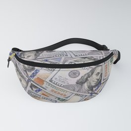 Hundred Dollar Bills Scattered Fanny Pack