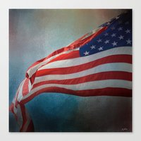american flag Canvas Prints featuring American Flag by Jai Johnson