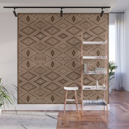 Abstract Pattern inspired by Navajo Weaving in Earthtones Wall Mural
