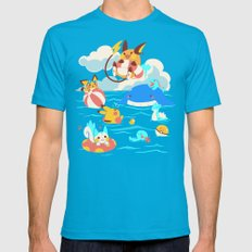 Splash Attack SMALL Mens Fitted Tee Teal