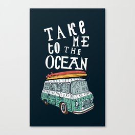 Surfer Van Canvas Print