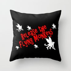 Release the Flying Monkeys Throw Pillow