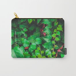 fresh green ivy leaves plant texture background Carry-All Pouch