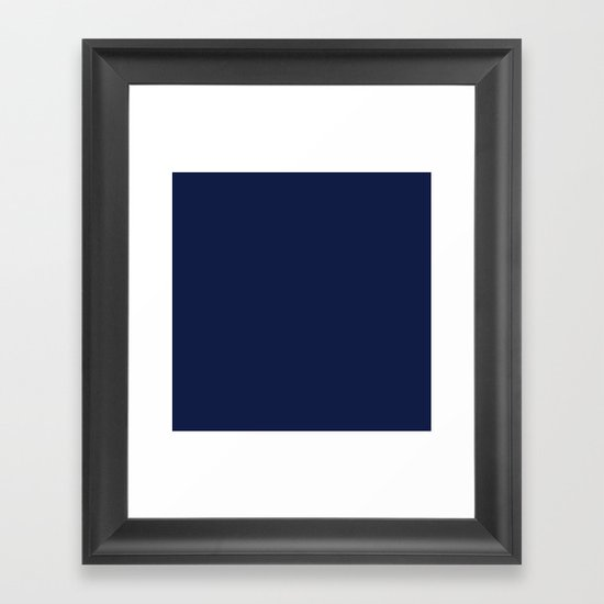Navy Blue Minimalist Solid Color Block Spring Summer by beautifulhomes