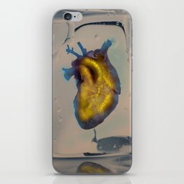 Heart of Gold encased in ice iPhone Skin