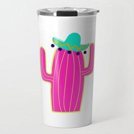 Saguaro Cactus - Pink Travel Mug