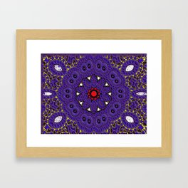 Lovely Healing Mandalas in Brilliant Colors: Purple, Brown, Yellow, Red and White Framed Art Print