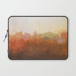 Madison, Wisconson Skyline - In the Clouds Laptop Sleeve