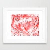 t rex Framed Art Prints featuring T-REX by D.C.St