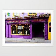 Colorful Irish Pub Art Print
