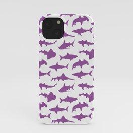 Violet Sharks iPhone Case