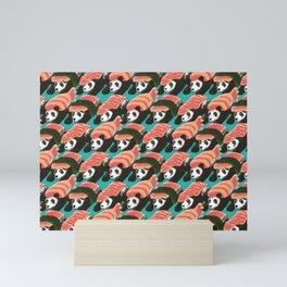 Sushi Panda Pattern Mini Art Print