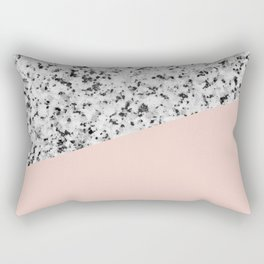 Granite and Pale Dogwood Color Rectangular Pillow
