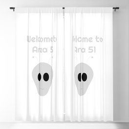 Welcome to Area 51 Blackout Curtain