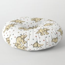 Triceratops & Triangles Floor Pillow