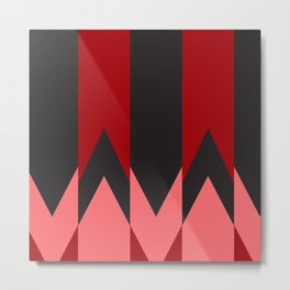 Red Triangle Fantasy Metal Print