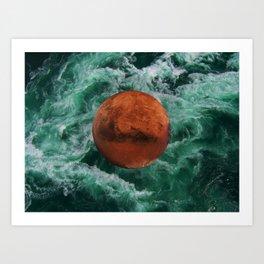 Mars has water Art Print