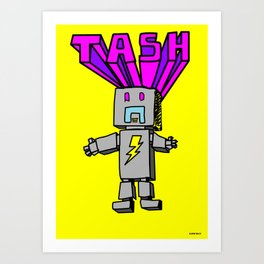 Electro Tash Number 1 Art Print