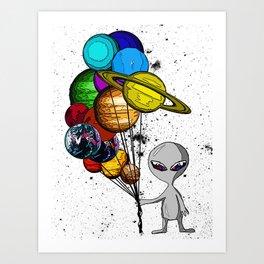 Casual Alien Art Print