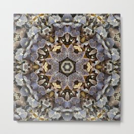 Mushroom Mandala 3 Metal Print