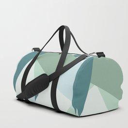 Modern abstract beach color block geometric stripes blue green pattern Duffle Bag
