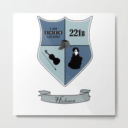 Sherlock Coat of Arms Metal Print