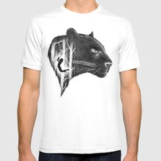 THE JUNGLE BOOK White Mens Fitted Tee MEDIUM
