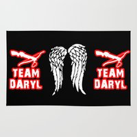 daryl Area & Throw Rugs featuring Team Daryl by Jera Sky