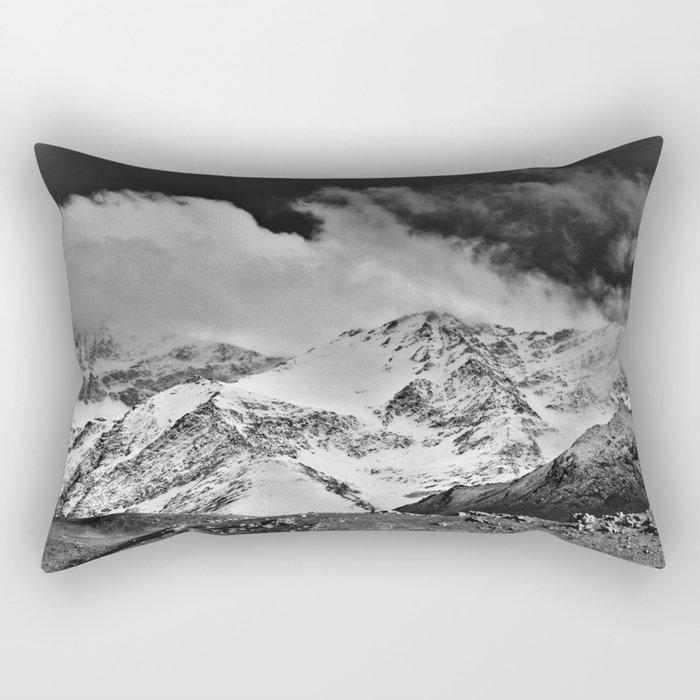 """Wild mountains"". Wilderness. Into the storm Rectangular Pillow"
