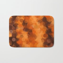 brown yellow and dark brown circle abstract background Bath Mat