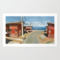 chile Art Prints featuring Valparaiso, Chile by Studio Sienna