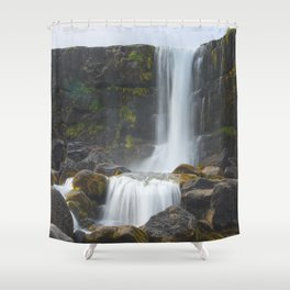 Öxarárfoss Shower Curtain